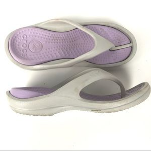 CROCS Athens Flip Flops Sandals Women 7 Mens 5